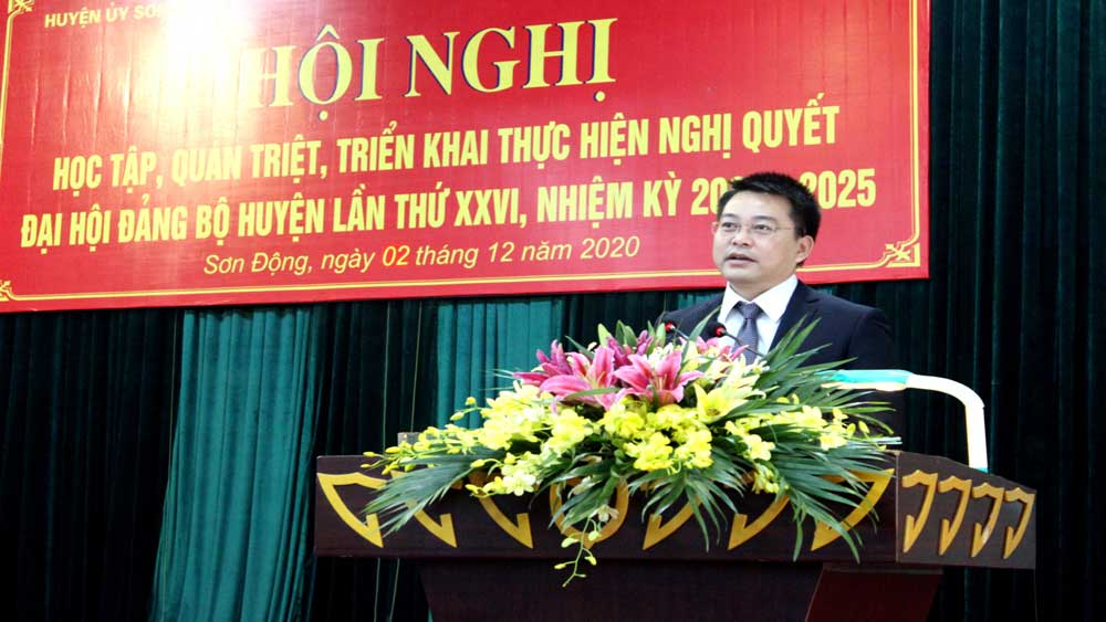 Sơn Động: Quán triệt, học tập Nghị quyết Đại hội Đảng bộ huyện